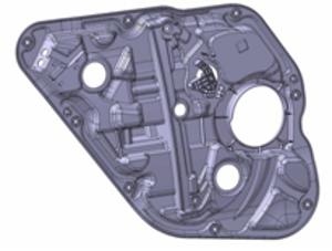 SABICイノベーティブプラスチックスのSABICR STAMAXRガラス長繊維ポリプロピレン樹脂を採用した2011年モデルの現代自動車「ソナタ」のドアモジュール